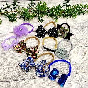 Bundle of 10 Baby Nylon Band Headbands